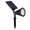 Solar power wall mount or insert ground weatherproof spot light for outdoor lighting