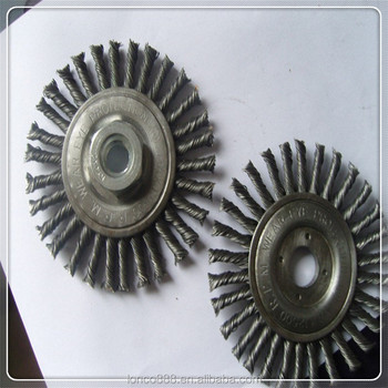 Twisted Knot steel wire flat wheel brush
