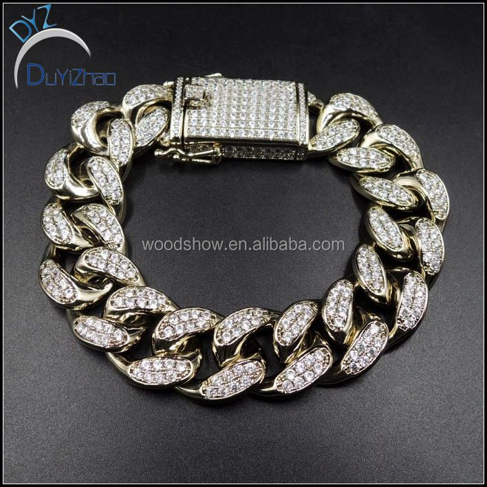 18mm MENS HEAVY MIAMI CUBAN LINK CHAIN BRACELET
