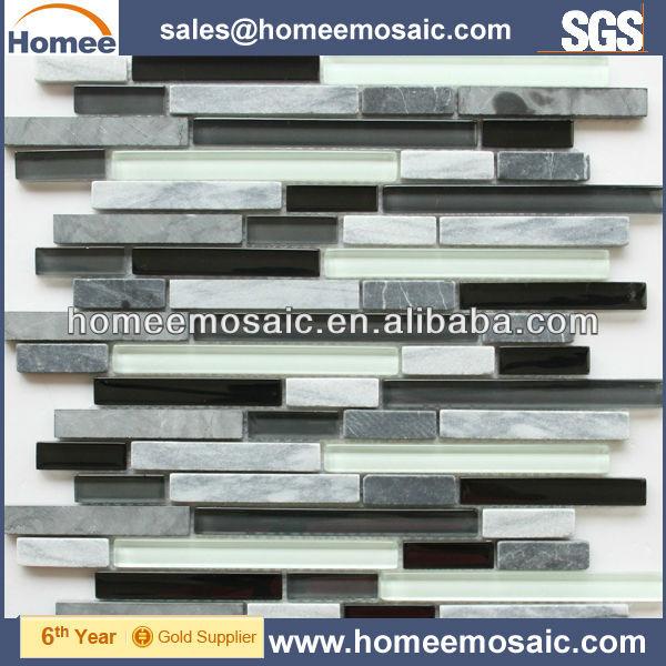 Wand zierleiste glas mischen stein mosaik fliesen mosaik produkt id 614089385 - Wand zierleiste ...