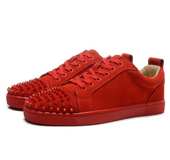e0cf4de1c3c7 ... Men amp Women White Snake Line Leather Low Top Fashion Red Bottom  Sneakers