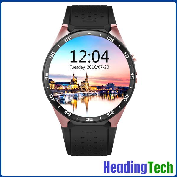 KW88 IPS Touch Screen Android Smart Watch 2016 Wirst Watch Mobile Phone 3G Android 5.1 OS Quad Core CPU 4G ROM