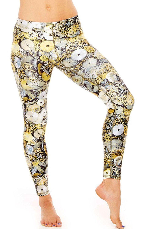 63121bd66a645 Get Quotations · Roseate Women's Acitve Leggings Fitness Pants Running Workout  Tights Mechanics