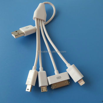8pin/30pin/Micro/type c to USB A fast charging 4 in 1 charging cable