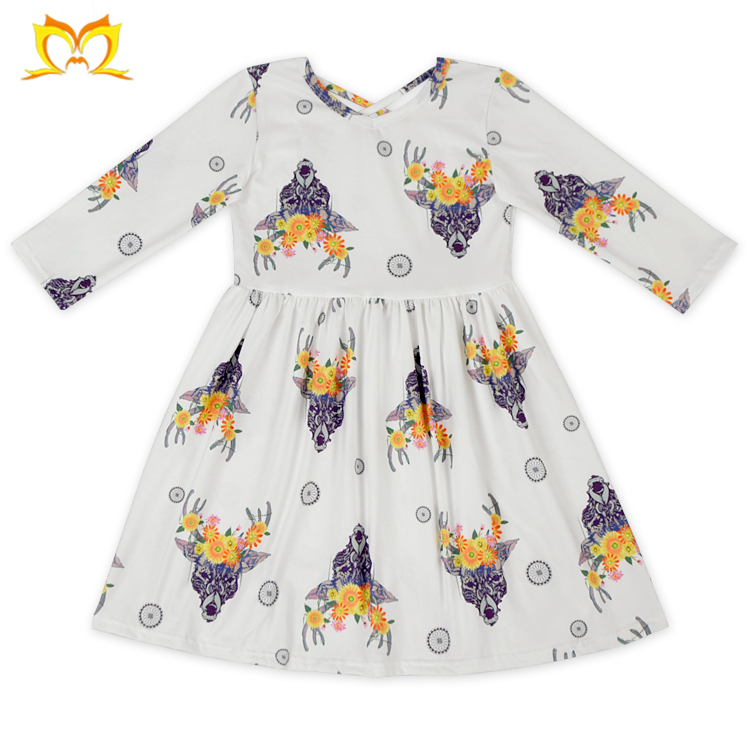 New Hollween Fall Design Baby Girls Dress One Piece Party Kids Children Dresses for Girl