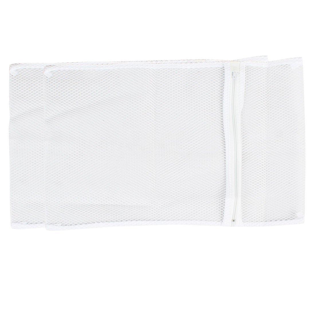 uxcell® Washing Machine Nylon Mesh Clothes Socks Washing Bag 39cm x 28cm 2 Pcs