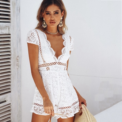 ba89d1713d42 Venta al por mayor vestidos blonda blanco-Compre online los mejores ...