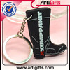 Promotional gold high quality creative shoe shape rubber key chain