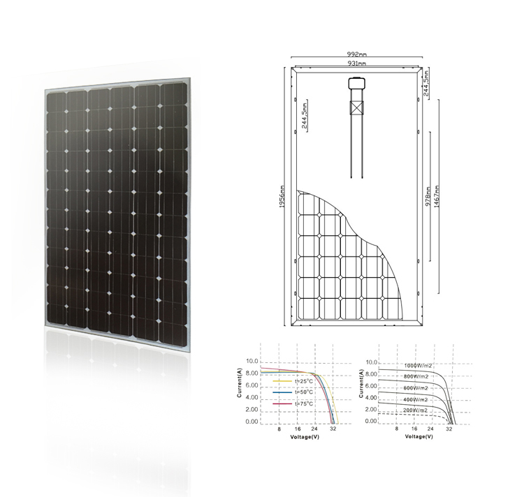 300W Solar Panel for Solar Power System Good Quality Mono Solar Panel