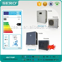 Split Type Air To Water DC INVERTER Heat Pump, hot water heating/cooling,ErP EN14825 Energy Lable, A++