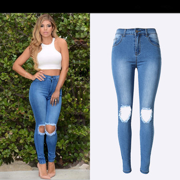 3305df43b DDF01 Wholesale price ladies jeans top design woman tops and jeans photos  ripped denim jean pants