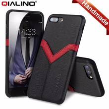 QIALINO Quality Pure Handmade Luxury Leather Case Cover For Apple iPhone 7, For iPhone 7 Plus