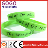 2015 good quality brand names custom silicon bracelet, Logo printing silicone bracelet wholesale with free sample