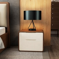 Bedroom Walnut Wooden Bedside Table Night Stand