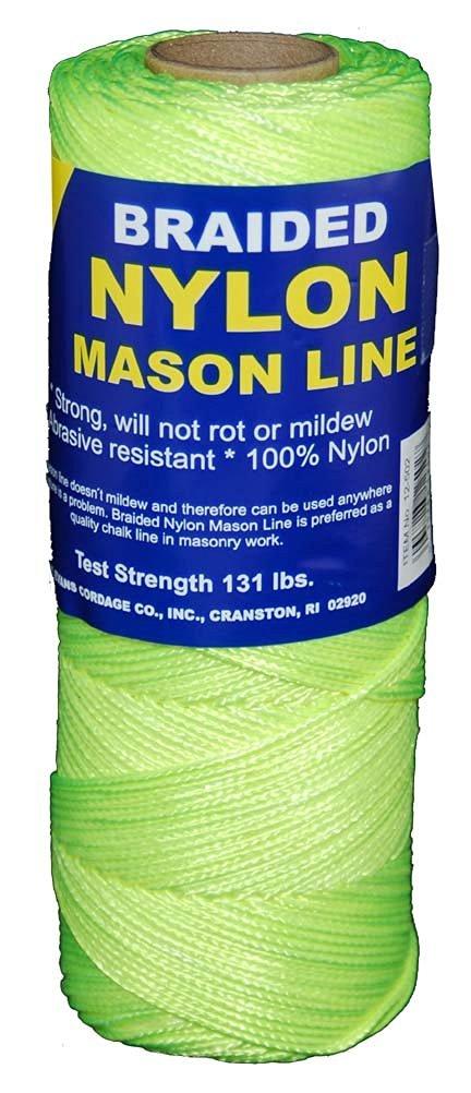 T.W . Evans Cordage 12-531 Number-1 Braided Nylon Mason, 250-Feet, Fluorescent Yellow