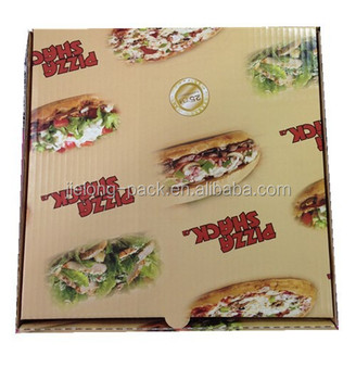 Customized cheap pizza boxes of various size