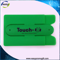 New Arrival Promotional Silicone Phone Display Stand with card holder