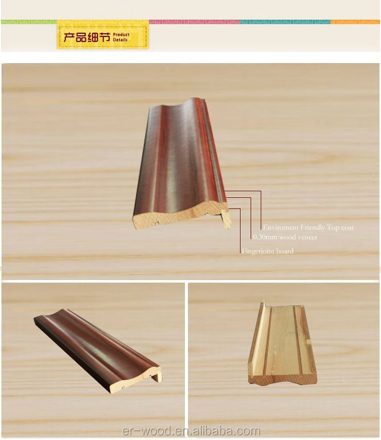 Wood Window And Door Frame Moulding With Groove - Buy Window And ...