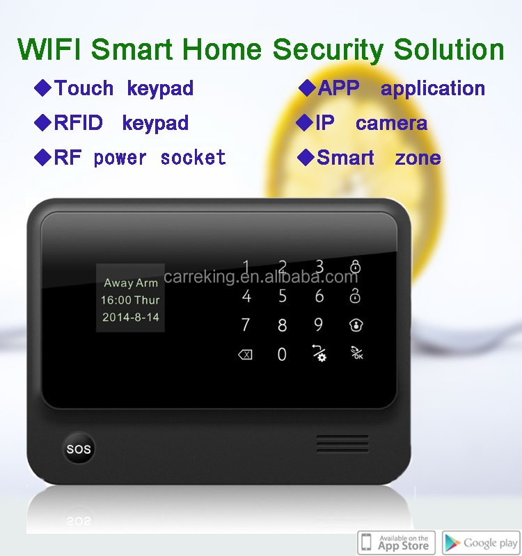 Smart home GSM+WIFI security alarm system honeywell alarm system