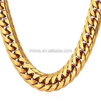 5174d2d491c Men Chunky Chain Stainless Steel 18k Gold Plated,Dubai New Gold Chain Design