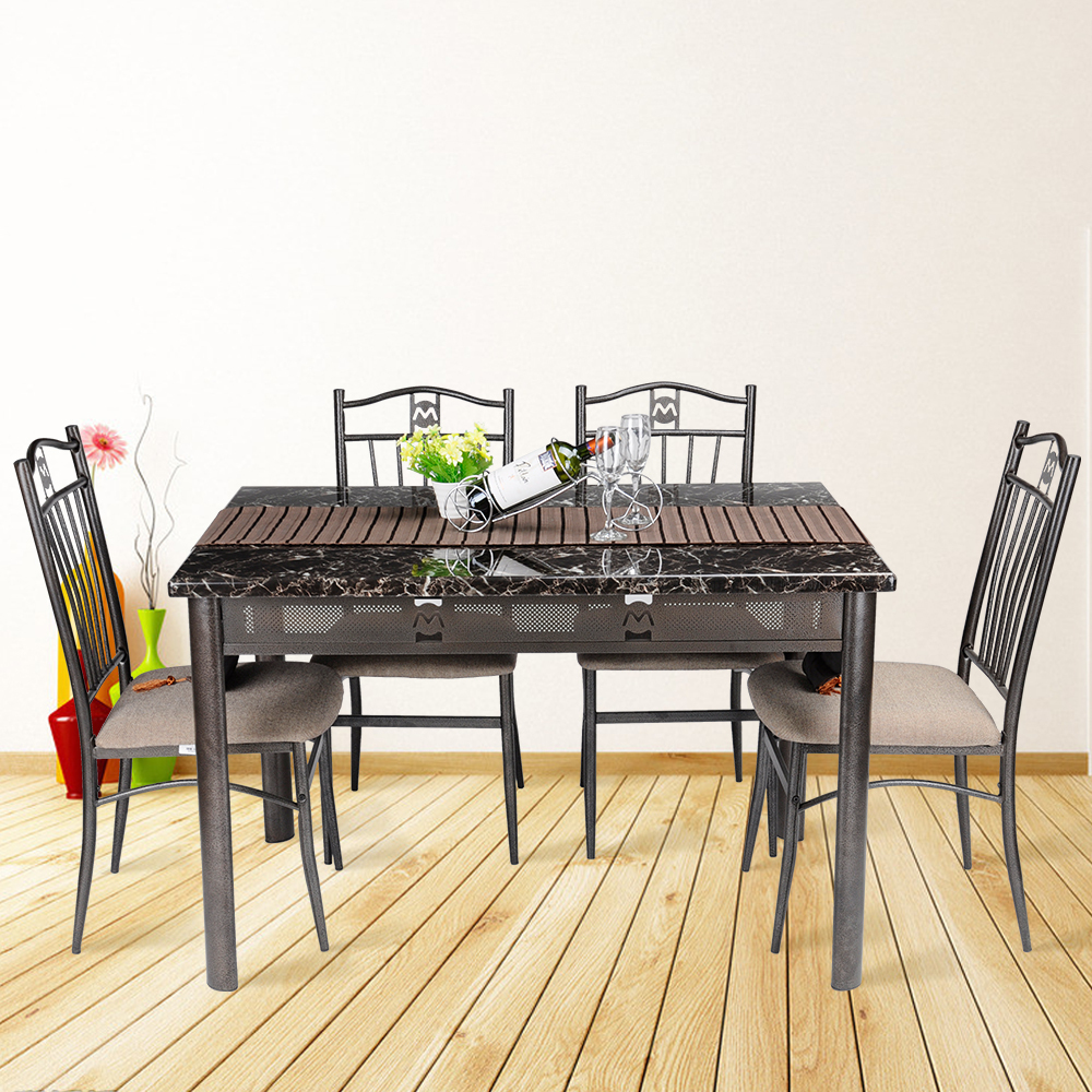 5-pcs-Dining-Room-Table-4-Chairs-Seat-Wooden-Folding