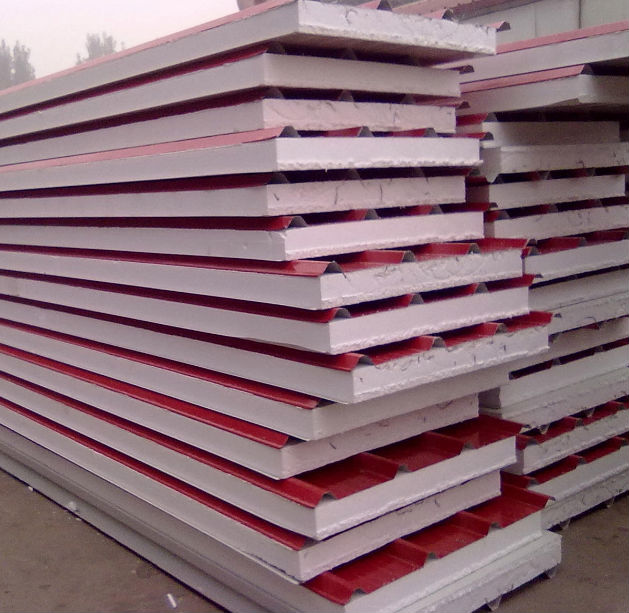 Isolatie sandwich wand en dakpanelen voor prefab modulair for Premade roof