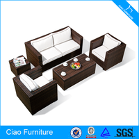 Leisure synthetic rattan sofa affordable modern furniture