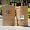 stand up kraft paper bag with window and zipper / brown paper bag withwindow