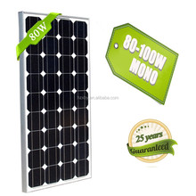 Cheap Chinese 80W 12V crystalline pv panel solar panel solar module for caravan motor homes living container house boat