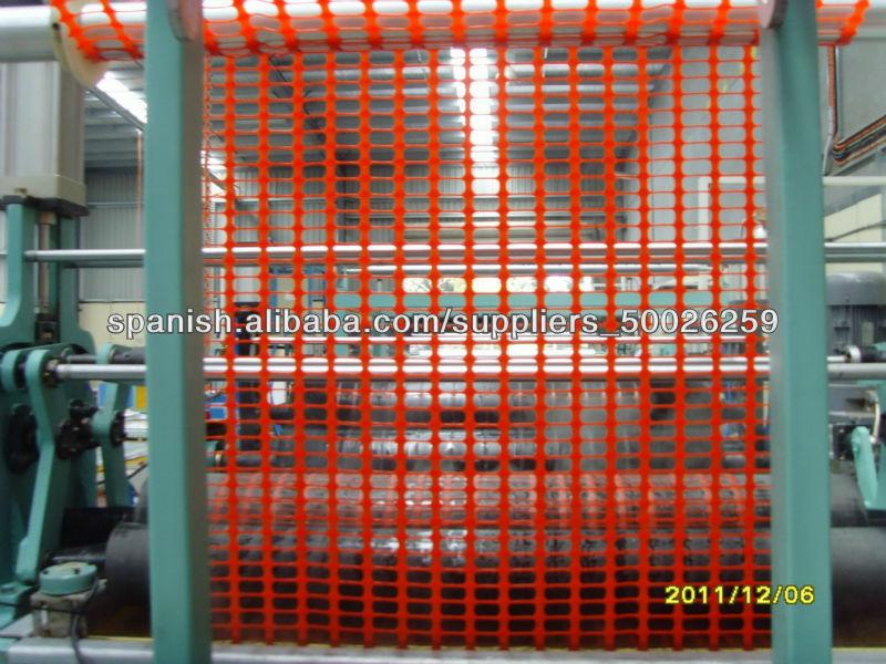 Maquina para malla plastica de seguridad extrusionadores - Malla plastica precio ...
