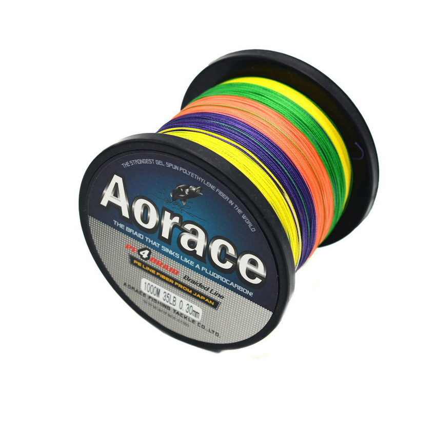 Multicolor 500M/30LB 4PE Fishing Line Strong Braided Lines Strands Wire