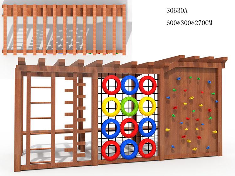 Commercio all'ingrosso old school attrezzature per parchi giochi rock coperta parete di arrampicata