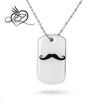 Stainless Steel Anjing Tag Pendant <span class=keywords><strong>Kumis</strong></span> Desain Liontin