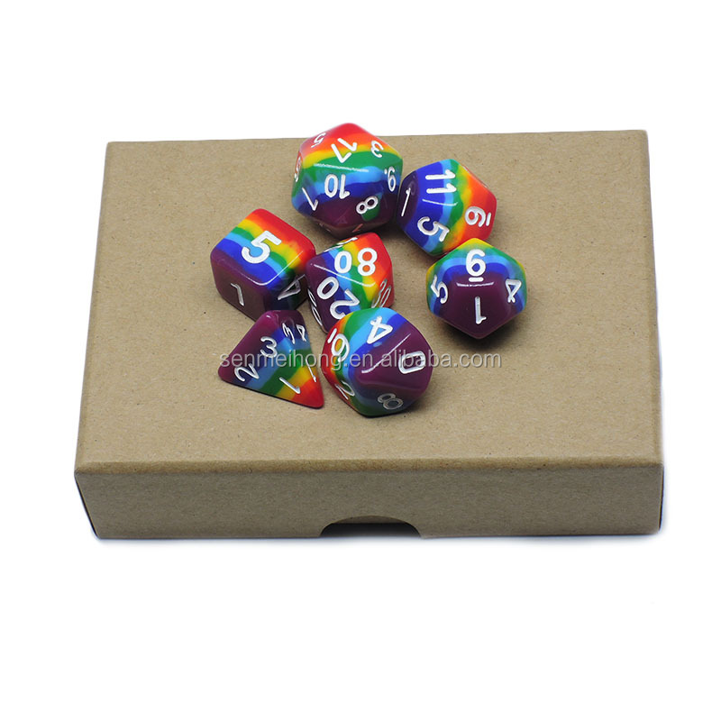 Manufacture sale Custom colored engraved dice for gift