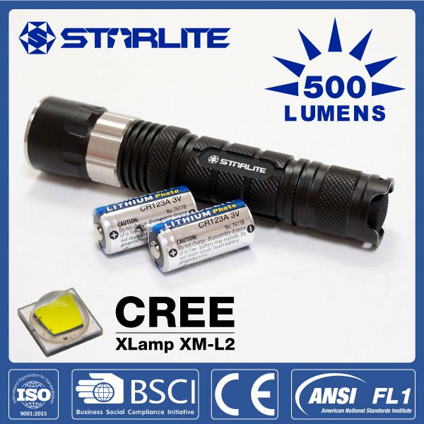STARLITE aluminum alloy 500 lumens water-proof led torch