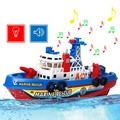 New Funny Fire Boat Electric Boat Children Electric Toy Navigation Non remote Warship K5BO
