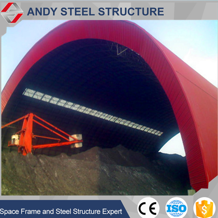 steel structure workshop/arch space frame coal storage shed