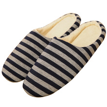 Cotton Knitted Anti-slip House Slippers, Autumn Winter Breathable Indoor Shoes