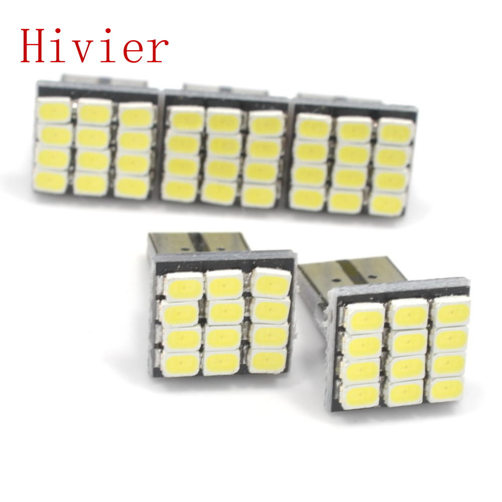 New 2X T10 194 168 W5W 12SMD 1206 Car White LED DC 12V Canbus No Error