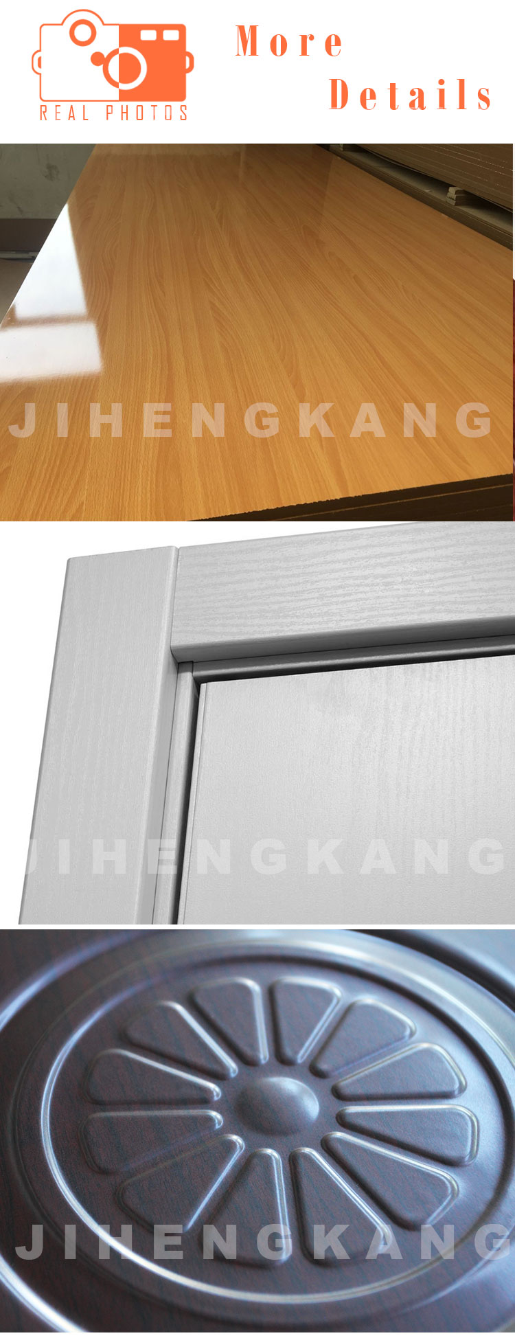 JHK-M03 Interior PVC Plastic Laminate Wooden Door