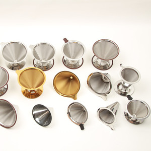 Hot selling stainless steel micro screen wholesale filter pour over cone plastic coffee dripper