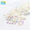 Top Quality Flat Back Resin Rhinestone Gem Mixed Sizes Rhinestone Resin Beads Nail Art for DIY, D-A001 Jelly White AB