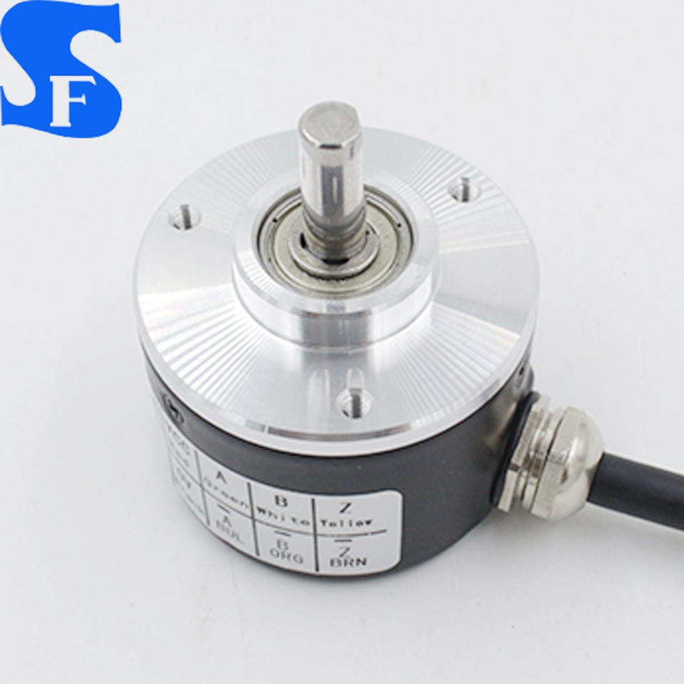 optical rotary incremental encoder with shaft definition