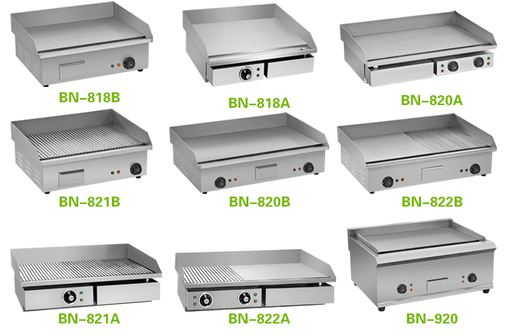 fast food restaurant equipment commercial gas flat top griddle grillers