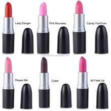 China manufacturer new no branded high quality cosmetic lip stick waterproof solid matte fashion 12 color lipstick