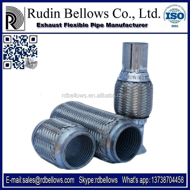 Ruian Rudin exhaust flexible pipes for decrease engine noise and vibration,