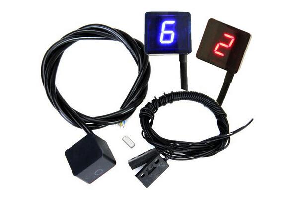 Красный / синий супер-тонкие 6 скорости отображения универсальный цифровой - дорога мото motorcross свет нейтральный дисплей индикатор передач