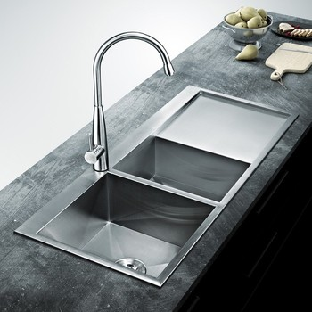Unique design stainless steel bowl kitchen sink deep for Odd shaped kitchen sinks