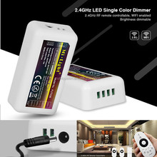 Original Milight Dimmer FUT036 12v 24v 2.4G 4 Zone Group 1 Channel Single Color Bright Adjustable Led Controller for LED Strip