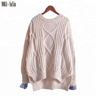 MOLI hot new design fashion products online shopping long sleeve knit shirt comfortable women sweet girls clothing